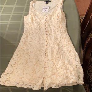 White mesh forever 21 dress